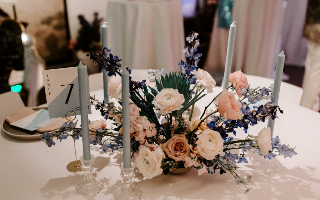 Bold Blues & Pops of Pinks from The Big Fake Wedding Nashville